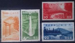 JAPON - JAPAN N° 279 à 282 COTE 50 € NEUF * MH . PARC NATIONAL DU NIKKO 1938 TB - Unused Stamps