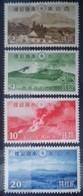 JAPON - JAPAN N° 287 à 290 COTE 125 € NEUF * MH . PARC NATIONAL D'ASO 1939 TB - Unused Stamps