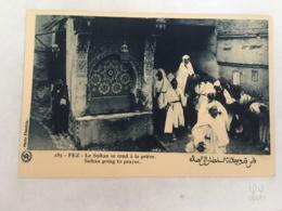 CPA MAROC - FEZ (FES) - 185 - Le Sultan Se Rend à La Prière - Fez (Fès)