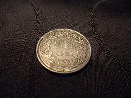 1/2 Franc SUISSE 1961 B - Suisse