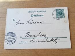 K9 Deutsches Reich Ganzsache Stationery Entier Postal P 36I Von Bukowitz Nach Bromberg - Germania