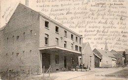 Leefdael  La Brasserie Animée Circulé En 1911 - Bertem