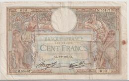 FRANCE P.  86a 100 F 1937 F - 1871-1952 Antiguos Francos Circulantes En El XX Siglo