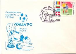 FOOTBALL MONDIAL ITALIA 90  TIMISOARA COVER    (APRI200096) - 1990 – Italy