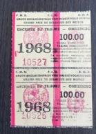 Ticket Grand Prix De Belgique Des Motos Moto Course 1968 - Tickets - Vouchers