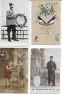 7 Cartes Postales Guerre 14-18 + 1 Photo D'un Soldat    BA - War 1914-18