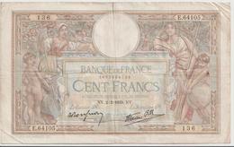 FRANCE P.  86b 100 F 1939 F - 1871-1952 Antiguos Francos Circulantes En El XX Siglo