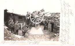 Carte Photo Allemande DCA - Canon Anti-aérien De 77 - 1914-18