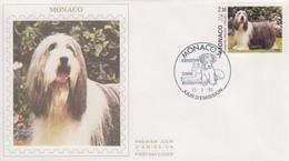 Enveloppe  FDC  1er  Jour    MONACO    Chien :  Le  Bearded  Collie  1990 - Perros