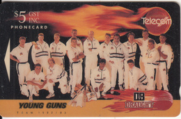 "NEW ZEALAND(GPT) - DB Draught/Sponsors Of New Zealand Cricket Team ""Young Guns""1992-93, CN : CC1B, Tirage 20000, Used - Sport"