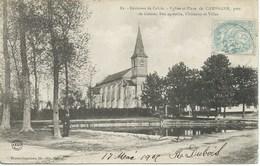 Campagne Les Guines - Eglise Et Place De Campagne , Près De Guines - France