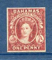 Bahamas - N° 1a ( * ) - Neuf Avec Charnière, Sans Gomme - Papier épais - RARE - Bahamas (...-1973)