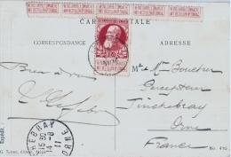 Timbre Avec Publicité Sur Carte Ancienne 1911 - Booklets 1907-1941