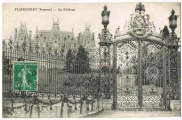 Flixecourt - Le Château - Circulé 1915 -  Mr Marcel VASSEUR - Mme VERDEGHEM - Flixecourt