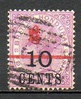 HONDURAS - (Colonie Britannique) - 1891 - N° 36a - 6 C. S. 10 C. S..4 P. Violet - (Victoria) - (Surcharge Rouge) - Honduras
