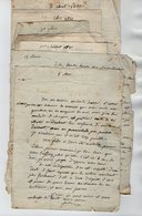 VP17.026 - 1821/22 - Lot De 8 Lettres De Mme Julie VALENTIN à ARGENTEUIL Ou LUZARCHES Pour Mme DEVALLON à PONTOISE - Manuscrits