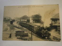 Chartres La Gare Vue Sur Les Quais,Eure Et Loire 28,écrite Environ 1914,état Moyen Car Pliure Au Milieu De La Carte Et T - Chartres