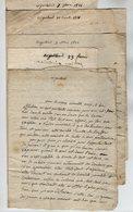 VP17.027 - 1821/22 - Lot De 5 Lettres De Mme Julie VALENTIN à ARGENTEUIL Pour Mme DEVALLON à PONTOISE - Manuscrits