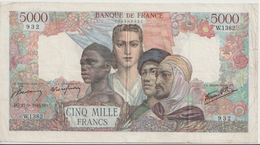 FRANCE P. 103c 5000 F 1945 VF - 1871-1952 Circulated During XXth