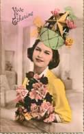 SAINTE CATHERINE - Femme Avec Chapeau Vert Avec étoile - Chemisier Jaune - Saint-Catherine's Day