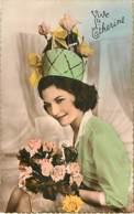 SAINTE CATHERINE - Femme Avec Chapeau Vert Avec étoile - Chemisier Vert - Saint-Catherine's Day