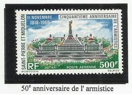 SAINT PIERRE ET MIQUELON SPM PA N° 42 Neuf Sans Charnière ** 1968 Poste Aérienne - Neufs