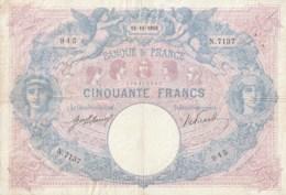 50 Frs BLEU ET ROSE   15-11-1916 - 50 F 1889-1927 ''Bleu Et Rose''