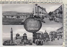 PATERNO' CATANIA SALUTI VEDUTE VG 1958 - Catania