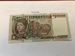 Italy Antonello Da Messina Uncirculated Banknote 5000 Lira 1980 #1 - [ 2] 1946-… : Repubblica