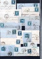 E60 Bel Ensemble De 62 Fragments Lettres N° 14B Bleu. Idéal étude Losanges GC Variétés Et Nuances ... Voir Commentaires - France