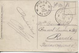 REF784/ CP Elsenborn En SMB C.PMB-BLP 23/3/20 > Renaix C.d'arrivée Ronse 24/3/1920 - Poststempel