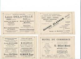 MAICHE (Doubs) Ensemble De 8 Billets Publicitaires Divers-SUP- - Publicités
