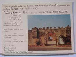 14 - CREUILLY - LA RANCONNIERE FERME HOTEL A CREPON - DÉPLIANT + 2 CARTES - France