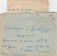 LAC FM CAD AGENCE POSTALE MARCIAC GERS 9/9/40 POUR CHANTIER JEUNESSE N°2 VERDUN S/GARONNE TARN ET GA - Guerra Del 1939-45