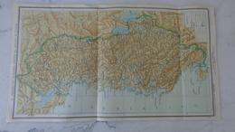 Carte De L'Albanie 1939 45cm X 25cm  ; Il Regno Di Albania Unito Al Regno D'Italia - Cartes Géographiques