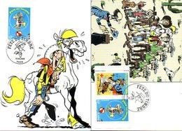 France 3546/48 Fdc Lucky Luke, Ballon, Cirque, Cheval, Dalton, Photographie, Cactus, Chien, Croix-rouge - Bandes Dessinées