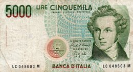 ITALIA 5000 LIRE 1985  P-111b2  Circ. - 5000 Lire