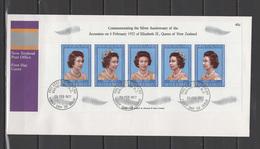 New Zealand 1977 Queen Elizabeth II Silver Jubilee S/s On FDC - Case Reali