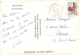 Montrond 1965 Savoie - Hexagonal Pointillé - Agence Rurale - 1961-....