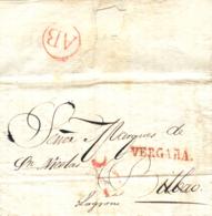 D.P. 10. 1840 (25 NOV). Carta Impresa De Vergara A Bilbao. Marca Nº 4R, Porteo 5 Y Al Dorso Marca AB En Rojo. Preciosa Y - ...-1850 Vorphilatelie