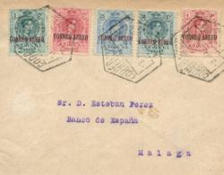 Ø 292/96 En Carta Correo Aéreo De Barcelona A Málaga, El 3/5/1920. Al Dorso Llegada. - 1889-1931 Reino: Alfonso XIII