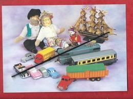 Carte Souple - L'association Des Collectionneurs Lommois - (Lomme )  -Voitures Miniatures,Trains,Jouets Anciens,Poupées - Lomme