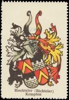 Kahla/Thüringen: Biechteler (Bichteler) Wappen Kempten Reklamemarke - Vignetten (Erinnophilie)