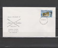 Norfolk Island 1977 Queen Elizabeth II Silver Jubilee Stamp On FDC - Case Reali