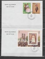 Burkina Faso (Upper Volta) 1977 Queen Elizabeth II Silver Jubilee Set Of 2 + S/s On 2 FDC - Case Reali