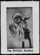 Dornbirn: Frau Mit Blumen Reklamemarke - Cinderellas