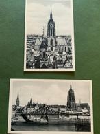 FRANCOFORTE Sul MENO - 2 Cartoline Anni '40 Non Viaggiate : Duomo , Ponte ... - Unclassified