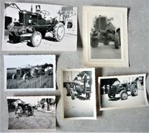 Lot De 6 Photo Tracteur Renault Case Massey Fergusson - Otros
