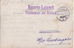 CP (Namur, Promenoir) Obl Crefeld 1n Le 14 Et 26/10/14 + Reserve-Lazarett Fichtenhain Bei Crefeld - Briefe U. Dokumente