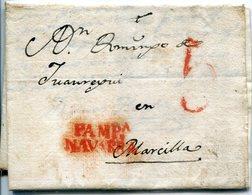 PREFILATELIA   Carta De Vidangoz A  Marcilla  1829  ( Navarra ) -  001 - ...-1850 Préphilatélie
